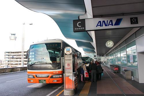 リムジンバスで羽田へ