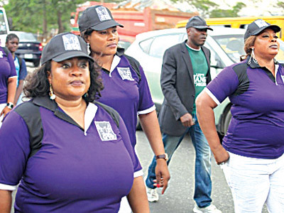 Nollywood stars march against domestic violence in the Federal Republic of Nigeria. The film and television industry workers are taking a stand on a critical issue. by Pan-African News Wire File Photos