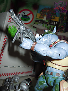 TEENAGE MUTANT NINJA TURTLES - CLASSIC COLLECTION :: ROCKSTEADY & BEBOP { tOkKustom Punk touch-ups } xx //  ROCKY aims  (( 2013 ))