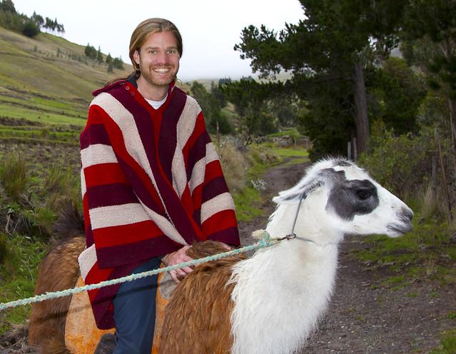 Me riding a llama