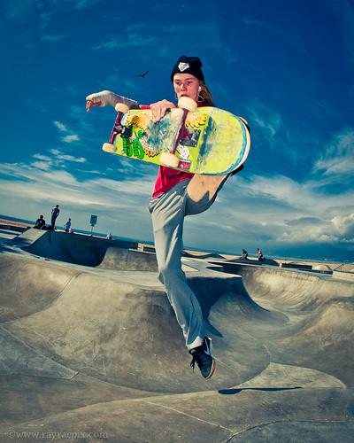 Venice Skatepark: Haden Mckenna 2-7-14