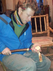 Dan hollowing the spoon using his twca cam