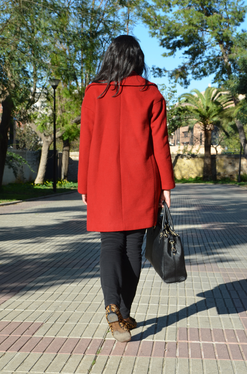 florenciablog red coat how to wear from zara