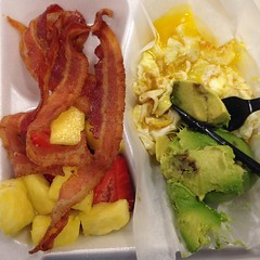 My beautiful colorful breakfast this morning. So good!!!