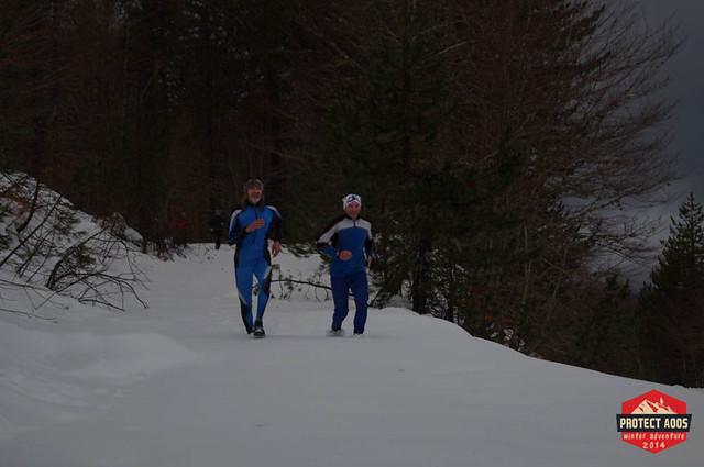Ο Χρόνης Δρούγιας και ο Νίκος Καλοφύρης σε κομμάτι της διαδρομής του τρεξίματος