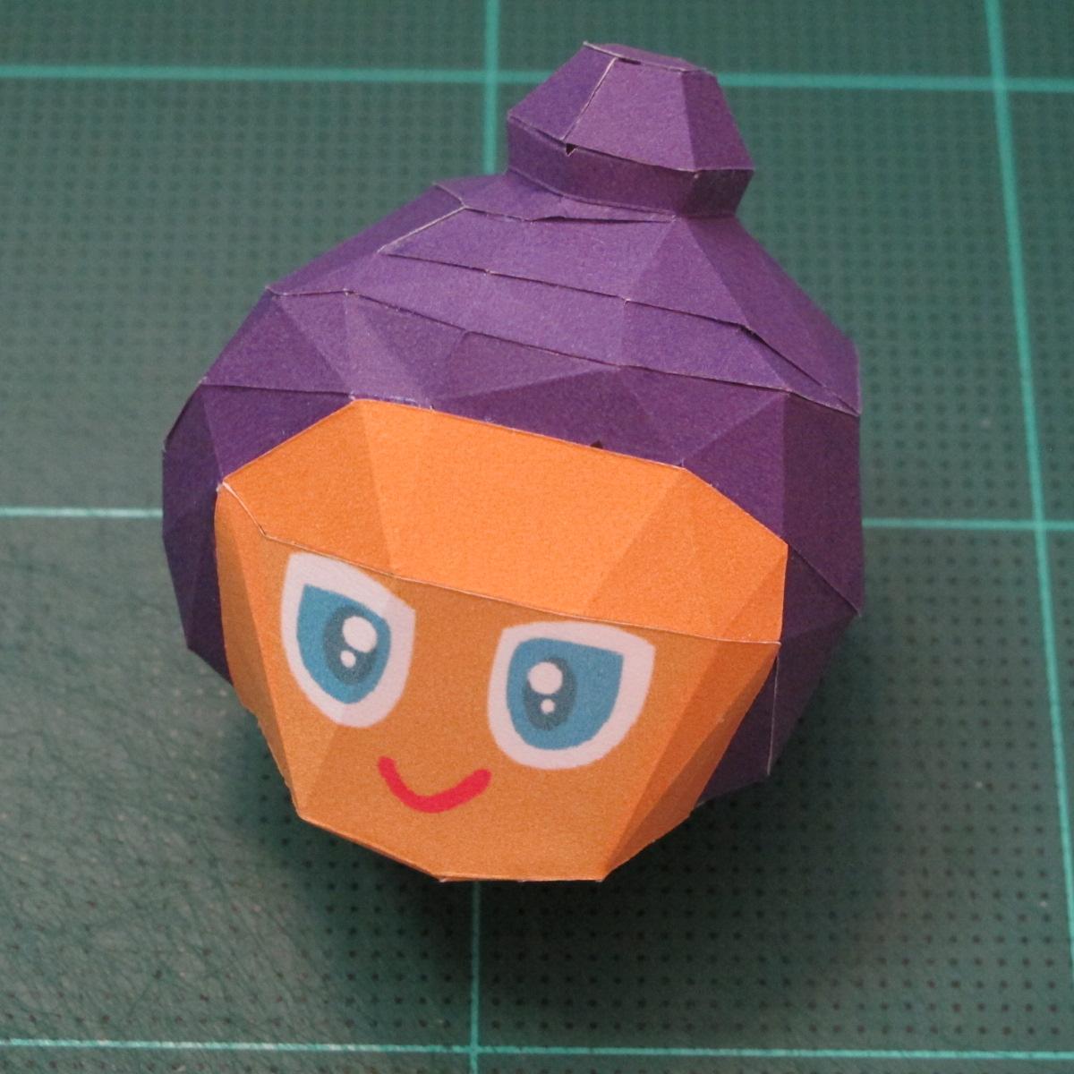 วิธีทำโมเดลกระดาษตุ้กตา คุกกี้รสราชินีสเก็ตลีลา จากเกมส์คุกกี้รัน (LINE Cookie Run Skating Queen Cookie Papercraft Model) 009