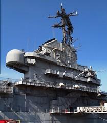 USS Hornet CVS-12 Island, P5241720-vertical Panorama