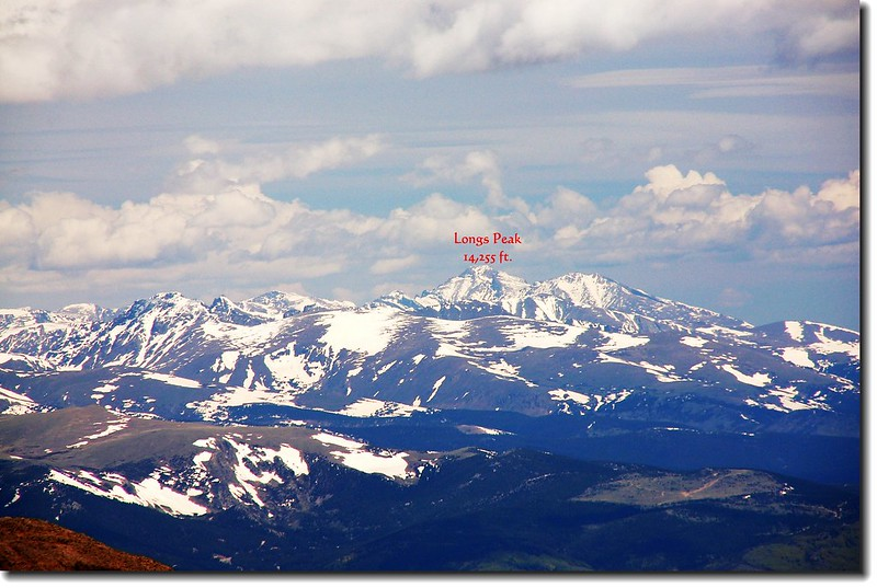 Longs Peak as seen from Mount Evans