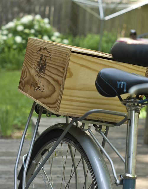Old Wine Box Bike Trunk