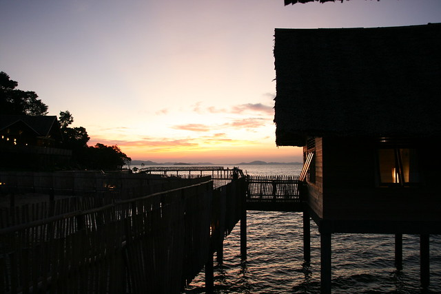 Sunset at Telunas Private Island