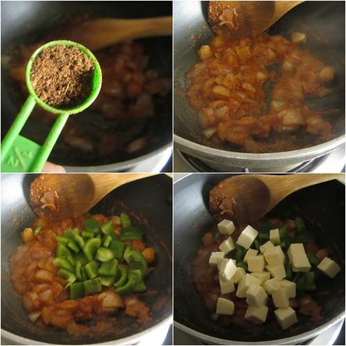 Onion,Bell Pepper & Paneer Schiacciata