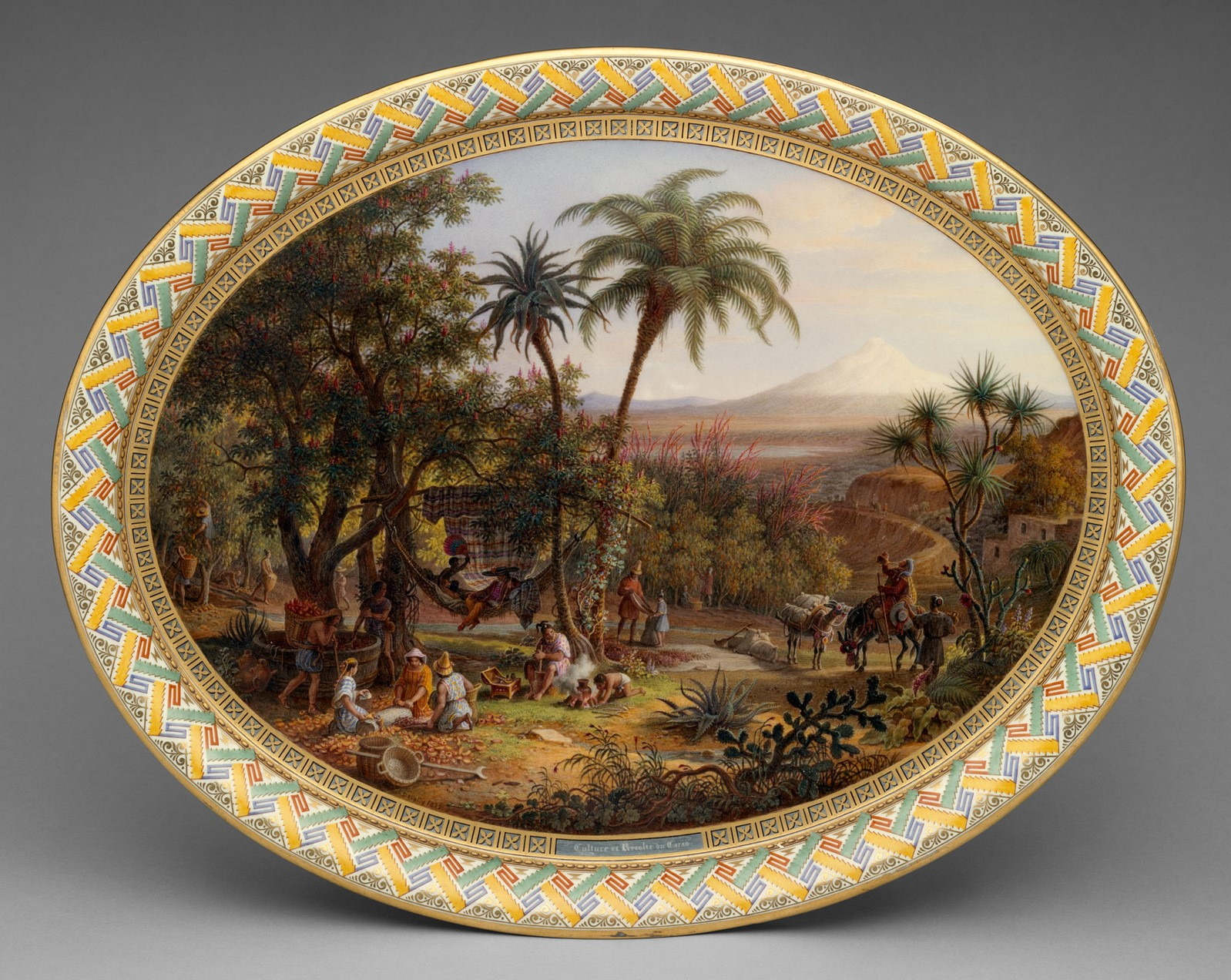 1836 Tray for Coffee service. Hard-paste porcelain. metmuseum