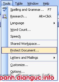 bảo mật file word
