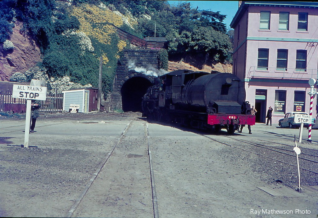 An Ab exiting the Port Chalmers tunnel