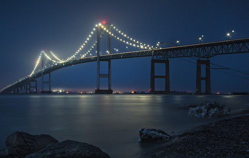 Newport bridge by marion faria via I {heart} Rhody
