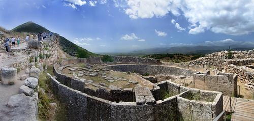 panorama history ruins pano greece archaeological mycenae mikines argolis nikon18200mmvrii 5shotpanorama pelopnnisos nikond7000 pse11 adobelightroom4 greece2013 mycéniens