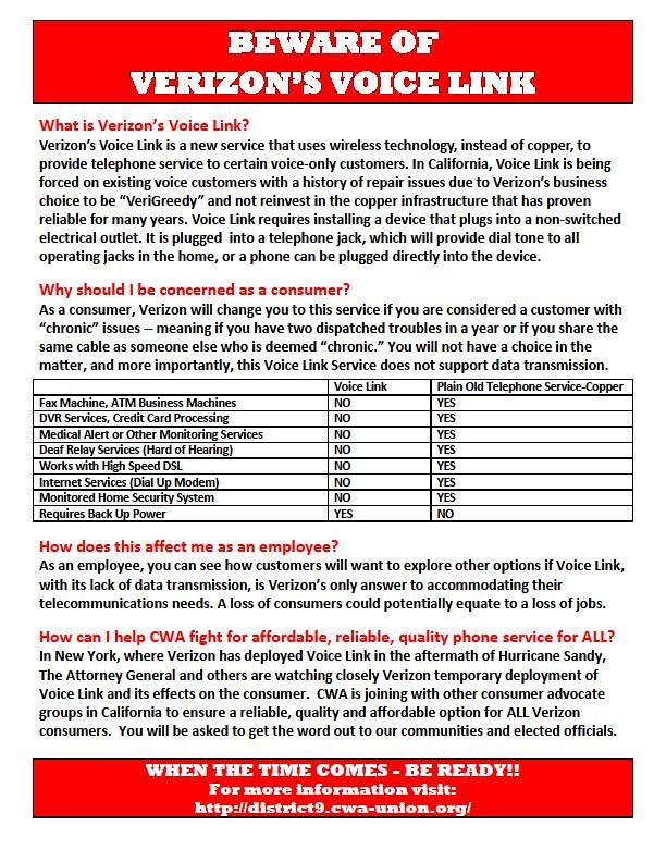 Beware of Verizon's Voice Link