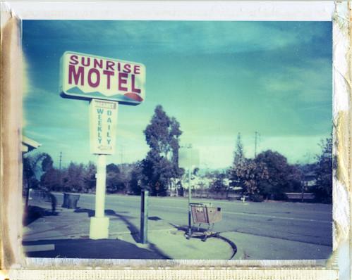 california morning sunrise polaroid motel instant cart redlands 195 iduv expired112008