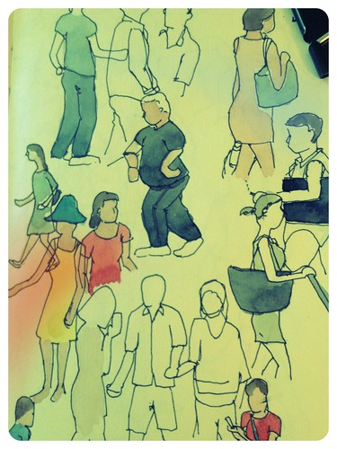 People sketching by Jennifer Appel