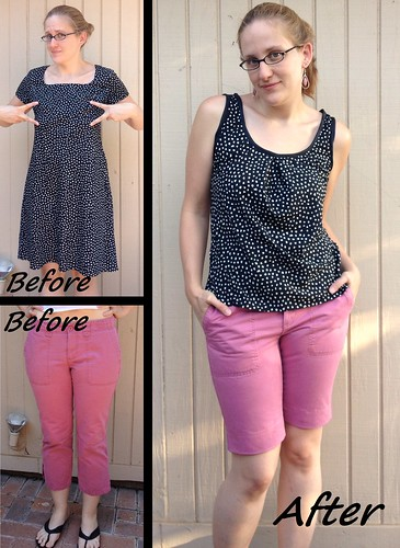 Sorta Sorbetto & Pink Pants Before & After