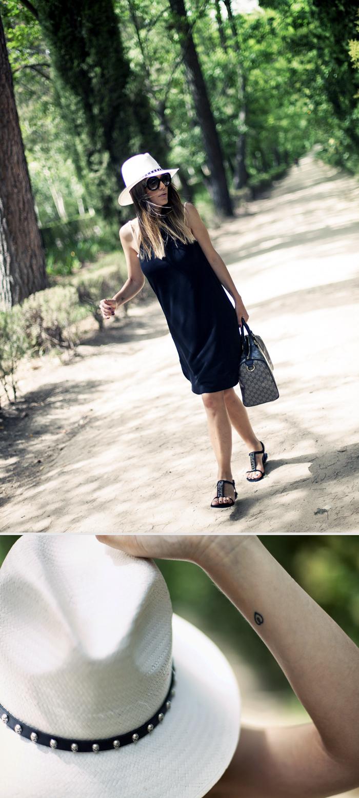 srteet style zara black dress