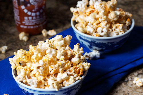 Sriracha Popcorn #SundaySupper