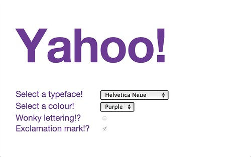 Blech's Yahoo! logotron