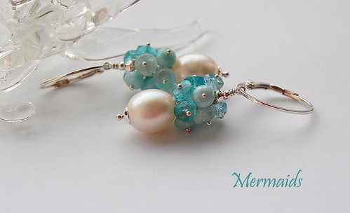 Mermaids Earrings by gemwaithnia