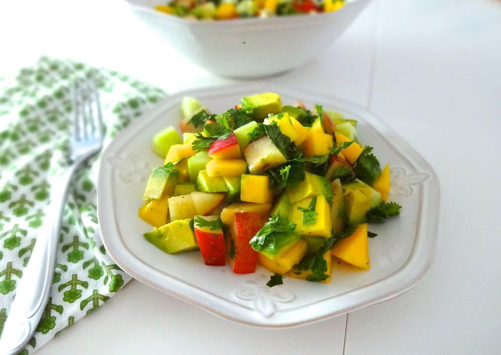 Mango Cucumber and Avocado Salad w/Honey-Lime Vinaigrette ...