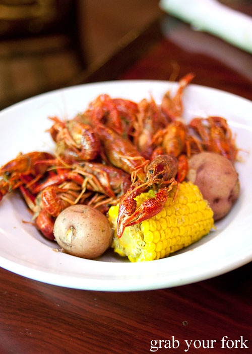 pinchy crawfish at pier 424 seafood market on bourbon street in new orleans louisiana
