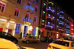 Night Street in Frankfurt