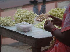 Flower vendor in Chennai