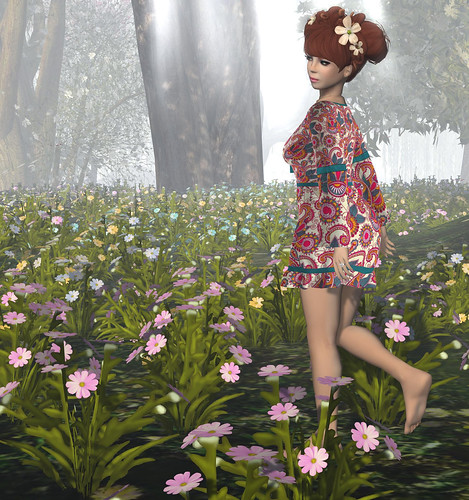 Barefoot in the flowers