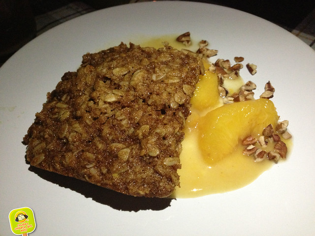 north brooklyn farm supper club - dessert - peach crumble with oatmeal raisin cookie