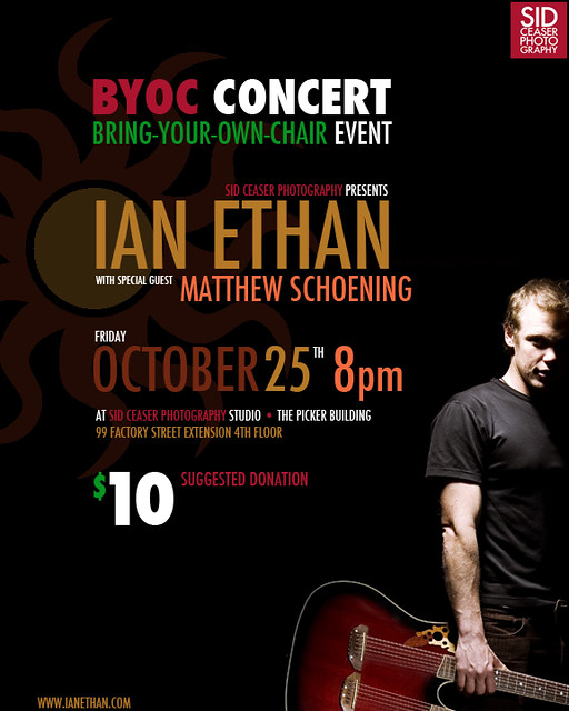 IAN ETHAN in Concert at Sid Ceaser Photography studio, Oct. 25th 2013