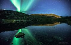 Aurora over Ravdnjejavri / Saragamvannet, Rypefjord