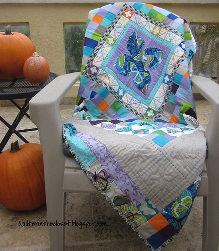 Handstitched Medallion Quilt