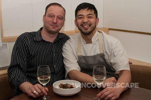PiDGiN's Gen. Manager Brandon Grossutti with Chef Makoto Ono