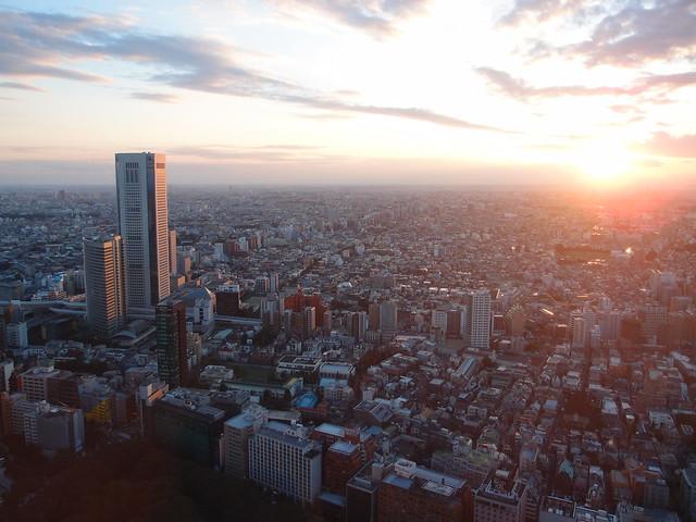 Sunset @ North Observatory @ Tokyo Metropolitan Government Building @ Nishi Shinjuku