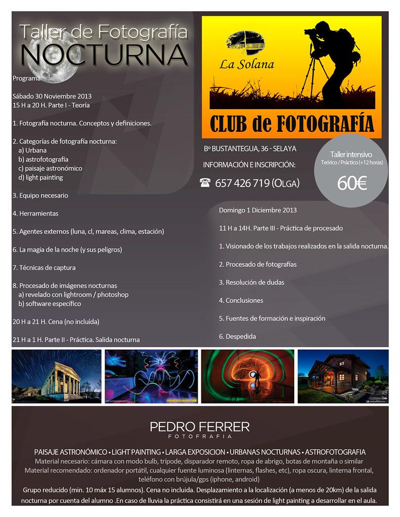 Taller de Fotografía Nocturna - Club de Fotografía La Solana