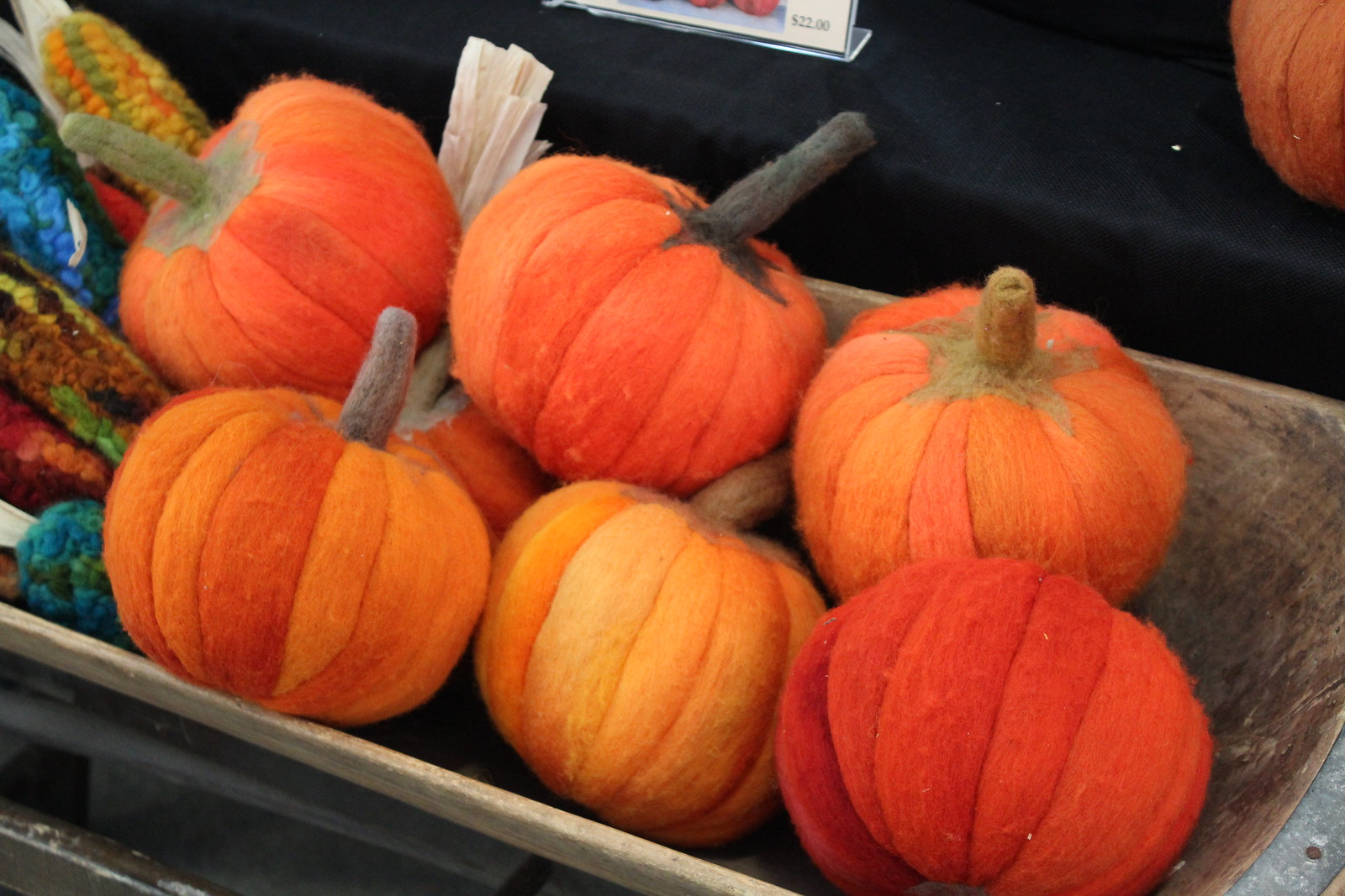 Felt Pumpkins, Decadent Fibers, November, Fall