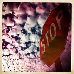 11-18-2012, 323/366, Stop Sign And Cloudy Sky