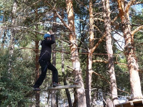 En el Parque de las cuerdas (Navaluenga)
