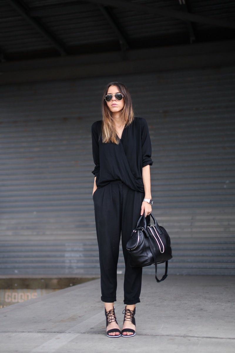 modern legacy fashion style blogger australia senso riley heels witchery wrap blouse zimmermann pants alexander wang chain tote bag armani watch (1 of 6)