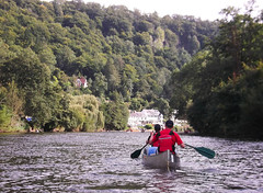 Canoeing along the Wye Valley
