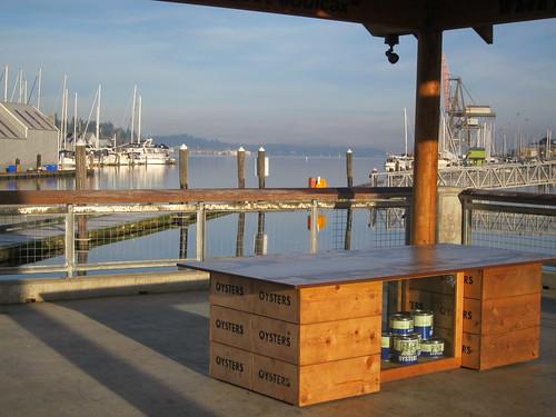 Percival Landing Kiosk Shelter with Oyster Art History Exhibit