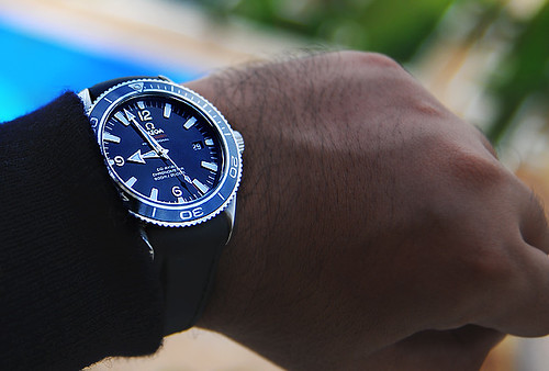 Omega Planet Ocean Liquidmetal Limited Edition on OEM Rubber Band