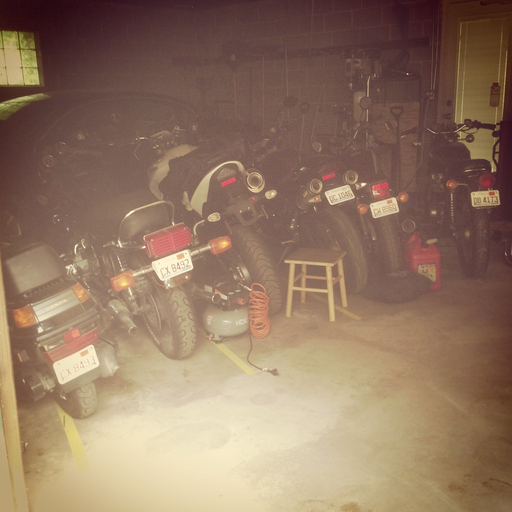 A garage full of bikes