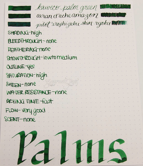 @Kaweco Green/Palm Green Ink @JetPens