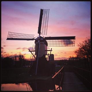 Sunrise in Leiden (Netherlands 2013)